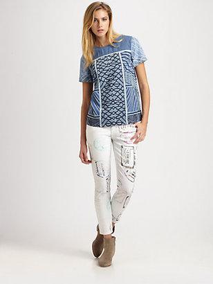 Mary Katrantzou for Current/Elliott The Stiletto Jeans/Lilac