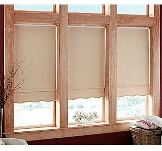 JCPenney Carmel Cut-to-Width Fringed Blackout Roller Shade