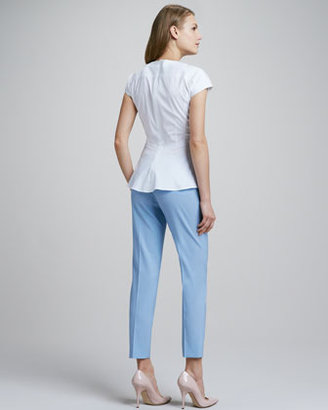 Theory Tailor Cropped Twill Pants