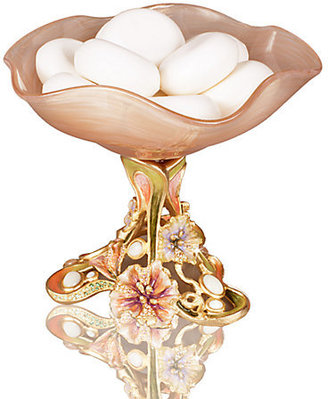 Jay Strongwater Josee Floral Pedestal Dish