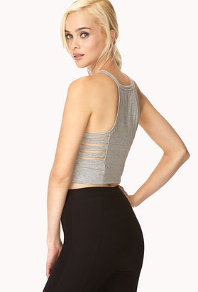 Forever 21 Cutout Crop Top