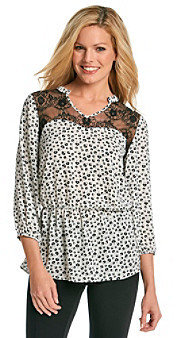 NY Collection Printed Woven Tunic