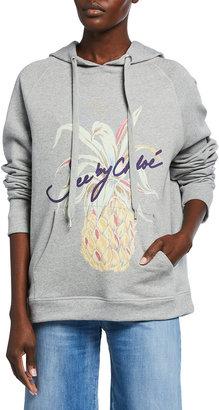 See by Chloe Pineapple Logo Graphic Hoodie