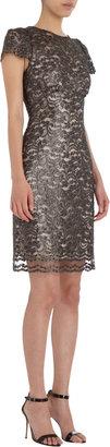 L'Agence Lace Cap Sleeve Dress