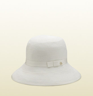 Gucci White Bucket Hat