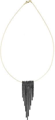 Cullen Jacqueline 18-karat gold, jet and diamond necklace