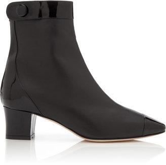 Oscar de la Renta Antra Patent Leather Ankle Boots
