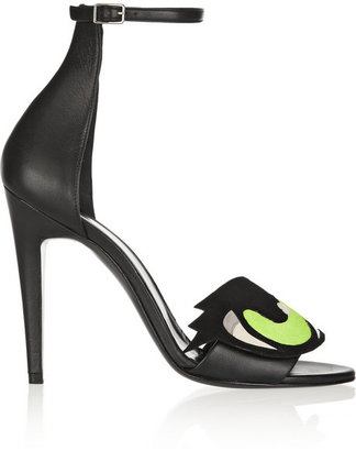 Pierre Hardy Suede, leather and calf hair sandals