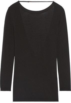 ADAM by Adam Lippes Open-back merino wool sweater