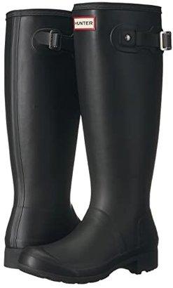 Hunter Tour Packable Boot (Black Matte) Women's Rain Boots