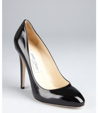 Jimmy Choo black patent leather 'Victoria' pumps