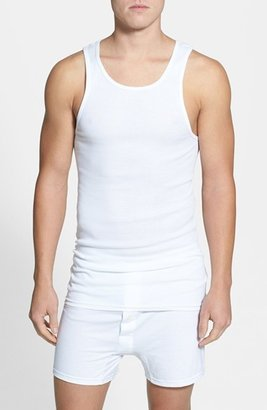Men's Nordstrom Men's Shop 4-Pack Supima Cotton Athletic Tanks $34.50 thestylecure.com
