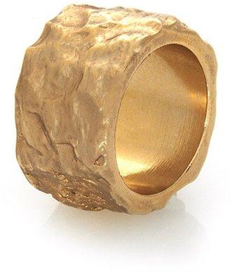 Rose Pierre Banyan Tree Bark Cigar Band Ring