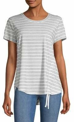 Style&Co. Style & Co. Striped High-Low Top