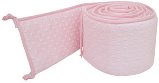 American Baby Company Heavenly Soft Minky Dot Mini Crib Bumper