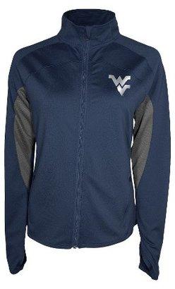 NCAA West Virginia Mountaineers Women's Jacket Navy