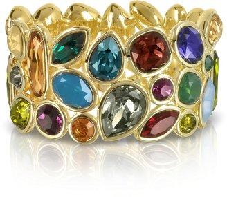 Forzieri Multicolor Crystal and Metal Bangle