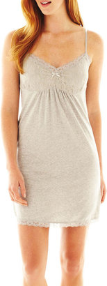 JCPenney INSOMNIAX Insomniax Lace-Trim Chemise