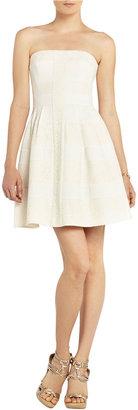 BCBGMAXAZRIA Dorothea Strapless Striped Dress