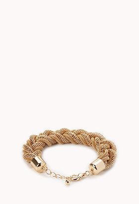 Forever 21 Sleek Braided Chain Bracelet
