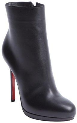 Christian Louboutin black leather side zip heel boots