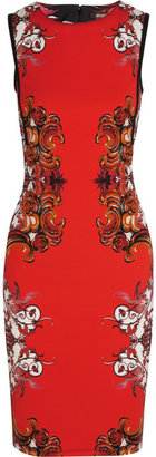 Roberto Cavalli Printed stretch-crepe dress