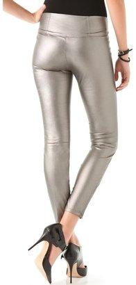 Blank Vegan Leather Leggings
