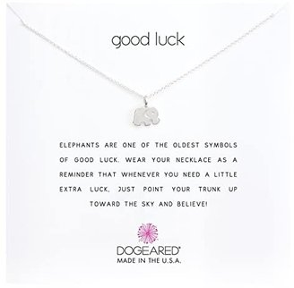 Dogeared Good Luck Elephant Reminder Necklace (Sterling Silver) Necklace