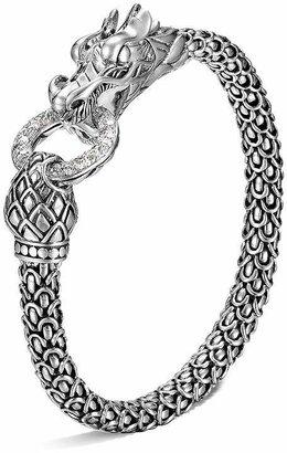 John Hardy Naga Silver Dragon Bracelet with Diamond Pavé, .45 ct. t.w.