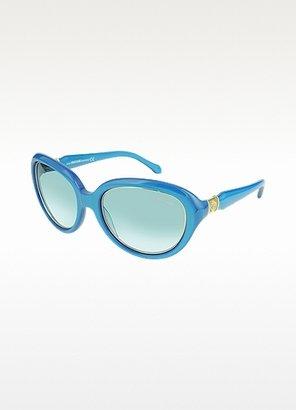 Roberto Cavalli Acqua 781S 87W Turquoise Acetate Women's Sunglasses
