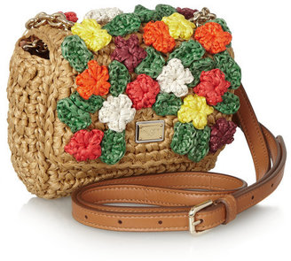 Dolce & Gabbana Kate raffia shoulder bag
