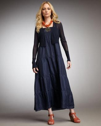 Eileen Fisher Tiered Silk Maxi Dress, Women's