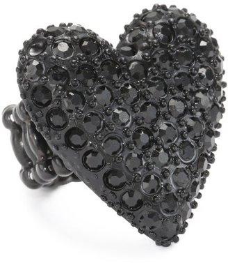 "Betsey Johnson Essentials"" Heart Stretch Ring"