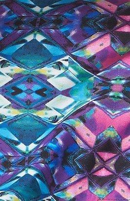 Mimichica Mimi Chica High Waist Print Shorts (Juniors)