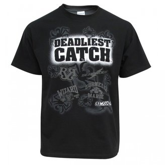 Deadliest Catch Glow in the Dark Ship Logo T-Shirt - Black