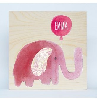 Someday Inc. 'Elephant' Personalized Birchwood Wall Art $56 thestylecure.com