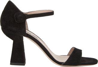 Miu Miu Ankle-Strap Cone Heel Sandals