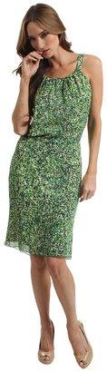 Rachel Roy Gathered Dress (Absinthe Multi) - Apparel