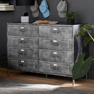 Pottery Barn Teen Locker 8-Drawer Wide Dresser
