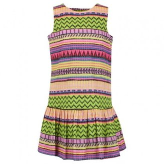 Milly Minis Multi-Color Neon Aztec Dress