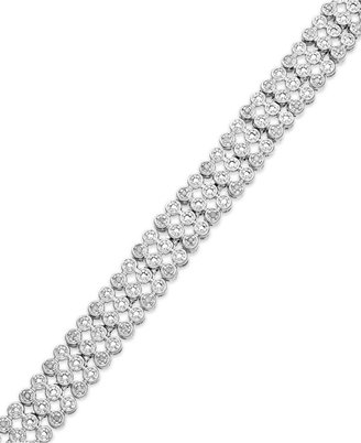 Townsend Victoria Rose-Cut Diamond Three-Row Bracelet in Sterling Silver-Plated Brass (1/2 ct. t.w.)