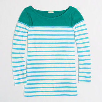 J.Crew Factory Factory colorblock stripe boatneck tee