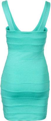 Topshop Petite Bandage V Neck Dress