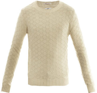 Gant Landing honeycomb-weave sweater
