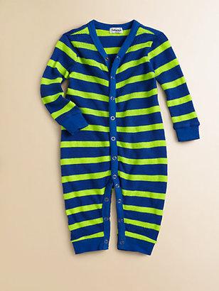 Splendid Infant's Striped Neon Playsuit