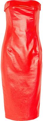 Paul & Joe Liz strapless glossed-twill dress