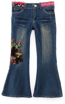 Little Mass Embroidered Denim Jeans