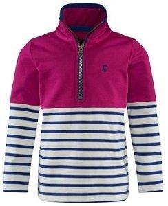 Joules Pink, Navy and White Stripe Sweatshirt