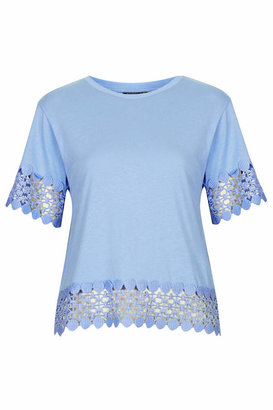 Topshop Lace panel tee