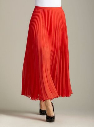 Gossip Girl By R&J Pleated Maxi Skirt in Red
